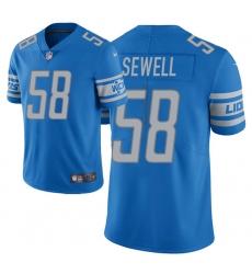 Men Detroit Lions 58 Penei Sewell 2021 NFL Draft Vapor Limited Jersey   Light Blue