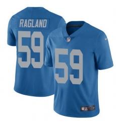 Nike Detroit Lions 59 Reggie Ragland Blue Throwback Men Stitched NFL Vapor Untouchable Limited Jersey