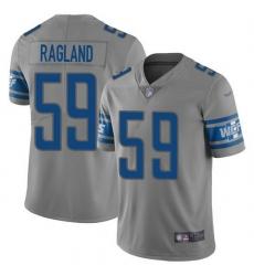 Nike Detroit Lions 59 Reggie Ragland Gray Men Stitched NFL Limited Inverted Legend Jersey