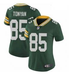 Women Green Bay Packers Robert Tonyan Green Vapor Limited Jersey