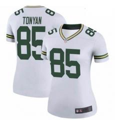 Women Green Bay Packers Robert Tonyan White Vapor Limited Jersey
