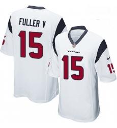 Men Nike Houston Texans 15 Will Fuller V Game White NFL Jersey
