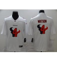 Nike Houston Texans 4 Deshaun Watson White Shadow Logo Limited Jersey