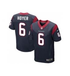 Nike Houston Texans 6 Brian Hoyer Blue Elite NFL Jersey