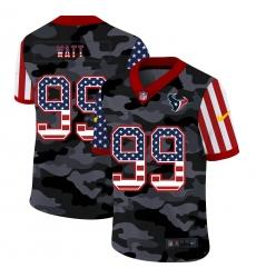 Nike Houston Texans 99 J J  Watt Camo 2020 USA Flag Salute To Service Limited Jersey