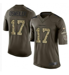 Nike Texans #17 Brock Osweiler Green Mens Stitched NFL Limited Salute to Service Jersey
