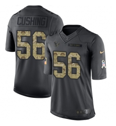 Nike Texans #56 Brian Cushing Black Youth Stitched NFL Limited 2016 Salute to Service Jersey