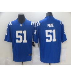 Men Indianapolis Colts #51 Kwity Paye Blue 2021 Vapor Untouchable Limited Stitched NFL Jersey