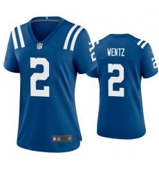 Women Indianapolis Colts Carson Wentz 2 Blue Vapor Limited Jersey