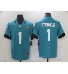 Men Jacksonville Jaguars 1 Travis Etienne Jr Blue 2021 Vapor Untouchable Stitched NFL Nike Limited Jersey