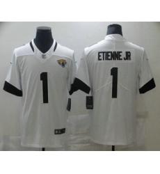 Men Jacksonville Jaguars 1 Travis Etienne Jr White 2021 Vapor Untouchable Stitched NFL Nike Limited Jersey