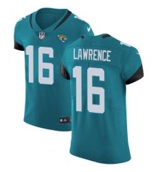 Nike Jacksonville Jaguars 16 Trevor Lawrence Teal Green Alternate Men Stitched NFL New Elite Jersey