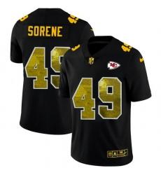 Kansas City Chiefs 49 Daniel Sorensen Men Black Nike Golden Sequin Vapor Limited NFL Jersey