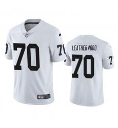 Men Las Vegas Raiders 70 Alex Leatherwood White Vapor Limited 2021 NFL Draft Jersey