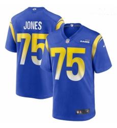 Men Los Angeles Rams #75 Deacon Jones Nike Royal Game Retired Player Jersey