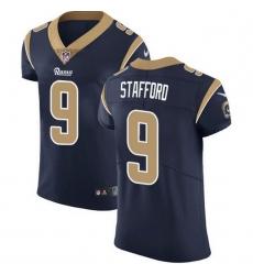 Men Los Angeles Rams 9 Matthew Stafford Navy Blue Team Color Men Stitched NFL Vapor Untouchable Elite Jersey