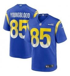 Men Nike Los Angeles Rams #85 Jack Youngblood New Blue Alternate Vapor Untouchable Limited Player NFL Jersey