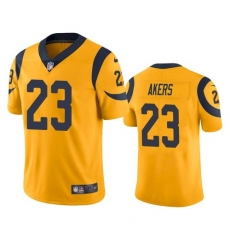 Nike Los Angeles Rams 23 Cam Akers Gold Men Stitched NFL Limited Rush Jersey