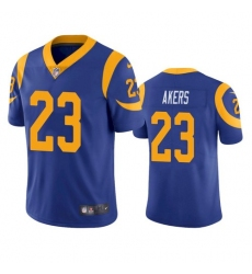 Nike Los Angeles Rams 23 Cam Akers Royal Blue Alternate Men Stitched NFL Vapor Untouchable Limited Jersey