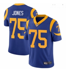 Youth Nike Los Angeles Rams #75 Deacon Jones Royal Blue Alternate Vapor Untouchable Limited Player NFL Jersey