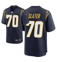 Men Los Angeles Chargers 70 Rashawn Slater 2021 NFL Draft Alternate Game Jersey   Navy