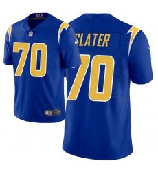 Men Los Angeles Chargers 70 Rashawn Slater 2021 NFL Draft Vapor Limited Jersey   Royal