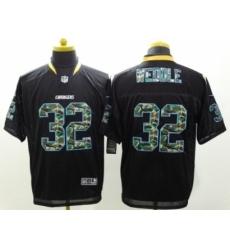 Nike San Diego Chargers 32 Eric Weddle Black Elite Camo Fashion NFL Jersey