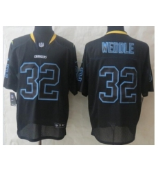 Nike San Diego Chargers 32 Eric Weddle Black Elite Lights Out NFL Jersey