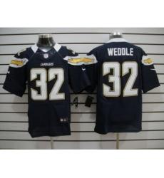 Nike San Diego Chargers 32 Eric Weddle Dark blue Elite NFL Jersey