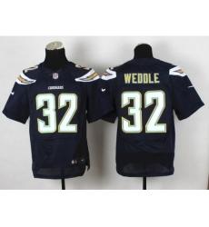 Nike San Diego Chargers 32 Eric Weddle Dark.Blue Elite New NFL Jersey