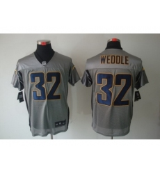 Nike San Diego Chargers 32 Eric Weddle Grey Elite Shadow NFL Jersey