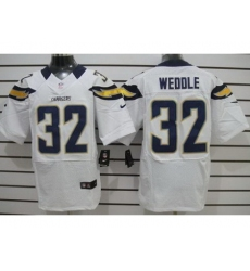 Nike San Diego Chargers 32 Eric Weddle White Elite NFL Jersey