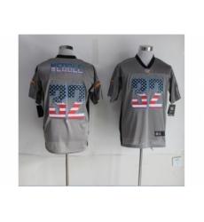 Nike San Diego Chargers 32 Eric Weddle grey Elite USA Flag Fashion NFL Jersey