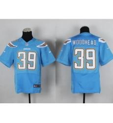 Nike San Diego Chargers 39 Danny Woodhead Light Blue Elite NFL Jersey