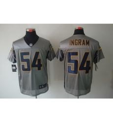 Nike San Diego Chargers 54 Melvin Ingram Grey Elite Shadow NFL Jersey