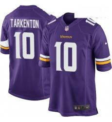 Mens Nike Minnesota Vikings 10 Fran Tarkenton Game Purple Team Color NFL Jersey