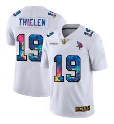Minnesota Vikings 19 Adam Thielen Men White Nike Multi Color 2020 NFL Crucial Catch Limited NFL Jersey