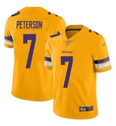 Nike Minnesota Vikings 7 Patrick Peterson Gold Men Stitched NFL Limited Inverted Legend Jersey