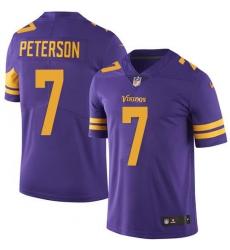 Nike Minnesota Vikings 7 Patrick Peterson Purple Men Stitched NFL Limited Rush Jersey