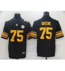 Men Nike Pittsburgh Steelers 75 Joe Greene Black Vapor Limited Jersey