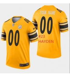 Men Steelers #23 Hayden Yellow Rush Jersey