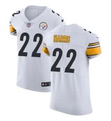 Nike Pittsburgh Steelers 22 Najee Harris White Men Stitched NFL New Elite Jersey
