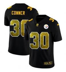 Pittsburgh Steelers 30 James Conner Men Black Nike Golden Sequin Vapor Limited NFL Jersey