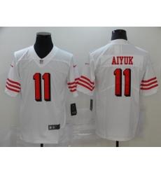 Men's San Francisco 49ers Brandon Aiyuk 11 White Nike Scarlet Player Limited Jersey