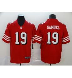 Men's San Francisco 49ers Deebo Samuel 19 Red Nike Scarlet Player Limited Jersey
