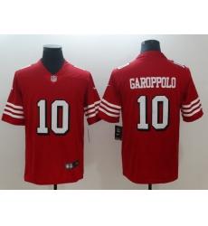 Men's San Francisco 49ers Jimmy Garoppolo 10 Red Nike Scarlet Player Limited Jersey
