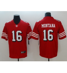 Men's San Francisco 49ers Joe Montana 16 Red Nike Scarlet Player Limited Jersey