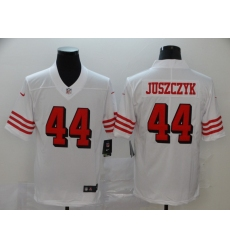 Men's San Francisco 49ers Kyle Juszczyk 44 White Nike Scarlet Player Limited Jersey