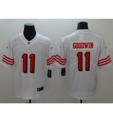Men's San Francisco 49ers Marquise Goodwin 11 White Nike Scarlet Player Limited Jersey