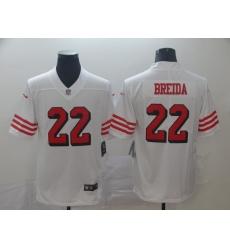 Men's San Francisco 49ers Matt Breida 22 White Nike Scarlet Player Limited Jersey